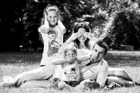Martina a Jaro s rodinou